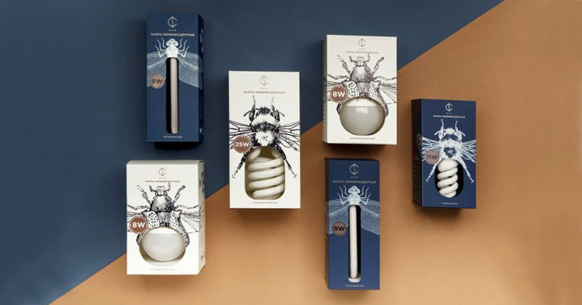 Package graphics design - bulbs big