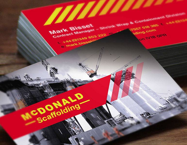 Brochure Design - McDonald Scaffolding - Product View