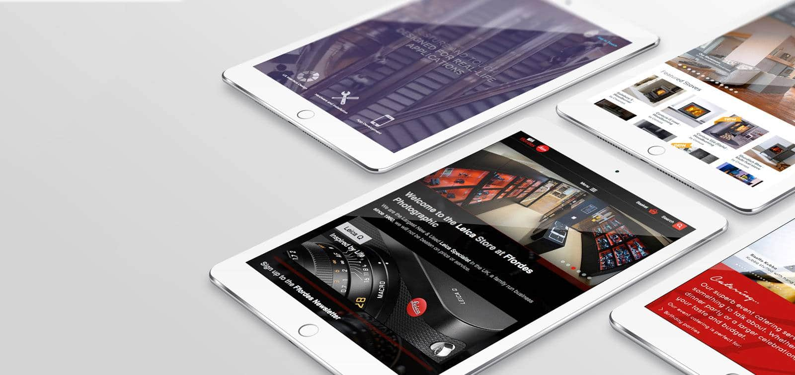 Website Design - Ffordes - Mockup - Tablets