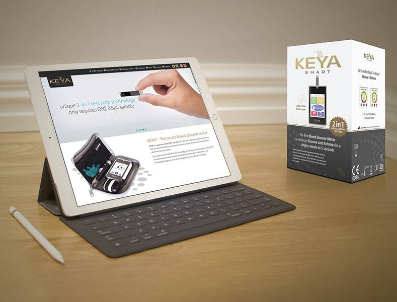 Website and Packaging Design - Keya Smart - Mockup - Tablet, Package