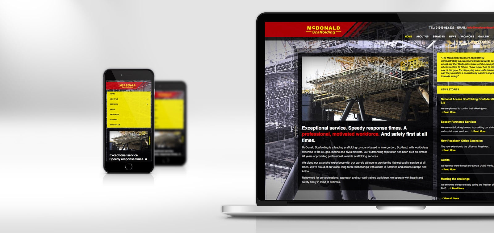 Website Design - McDonals Scaffolding