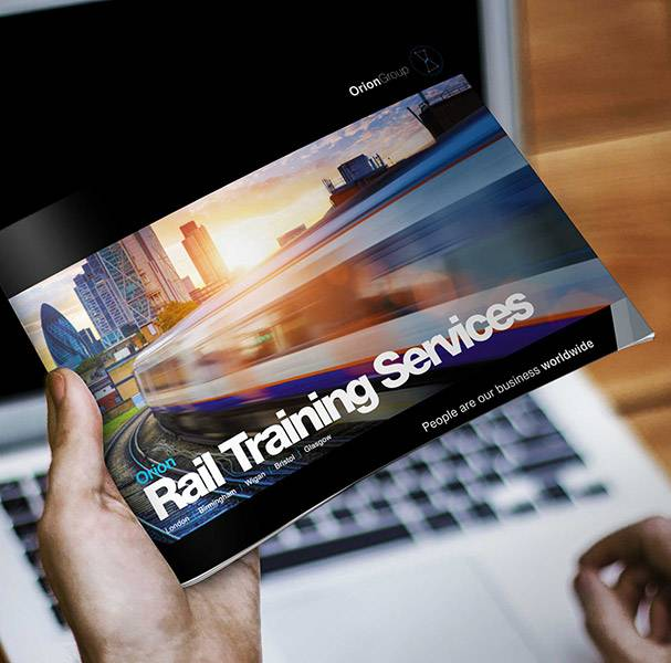 Brochure Design - Orion Rail Training Services - Mockup