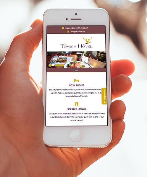 Website Design - Tomich Hotel - Mockup - Mobile Phone