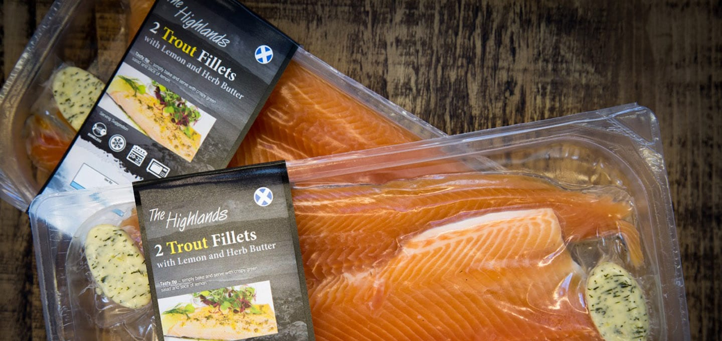 Packaging Design Trout Fillets