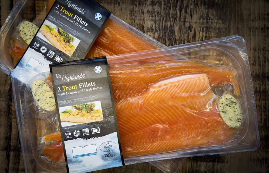 Packaging Design - Trout Fillets - Product View
