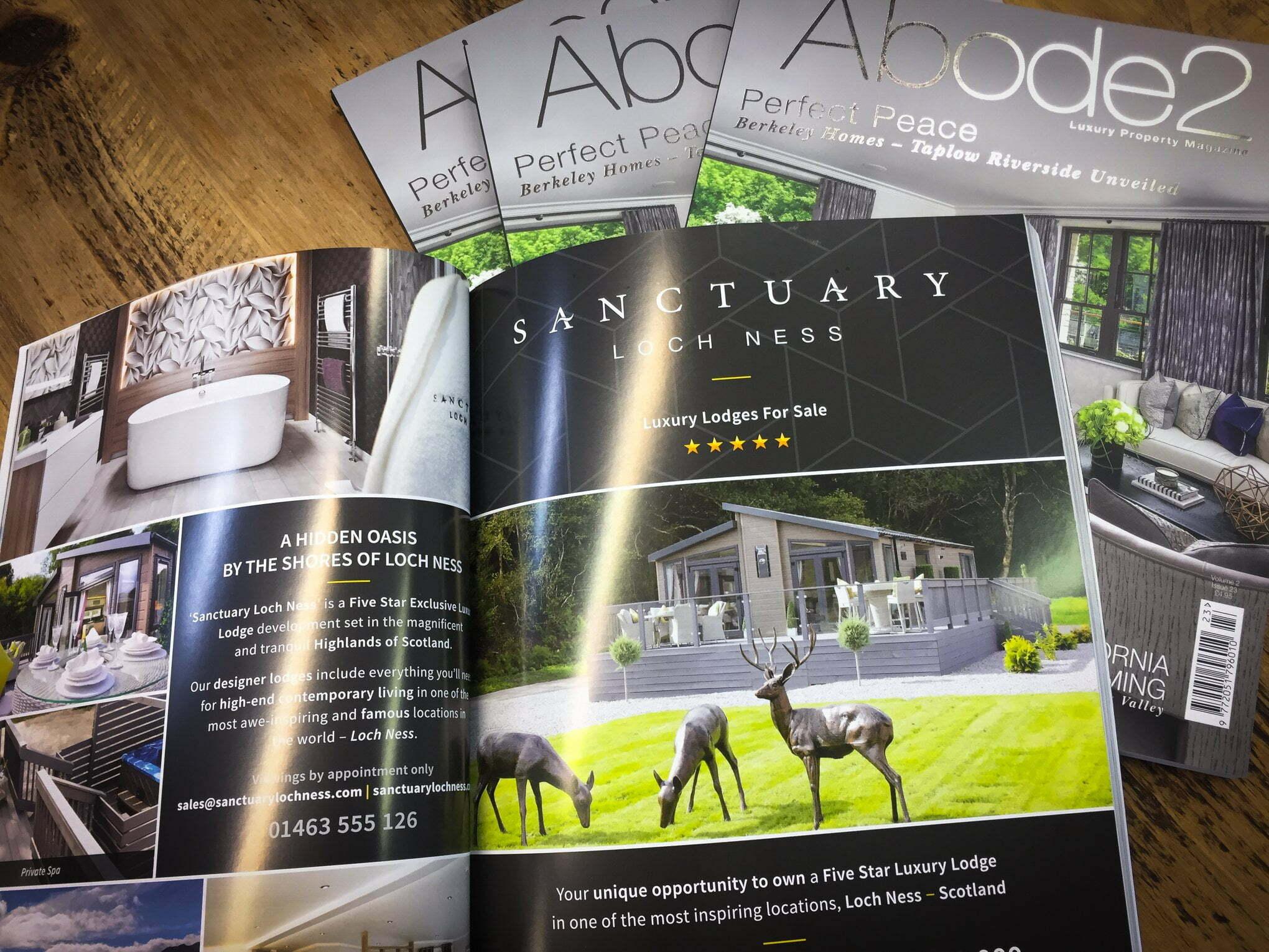 Magazine print advertising sanctuary loch ness