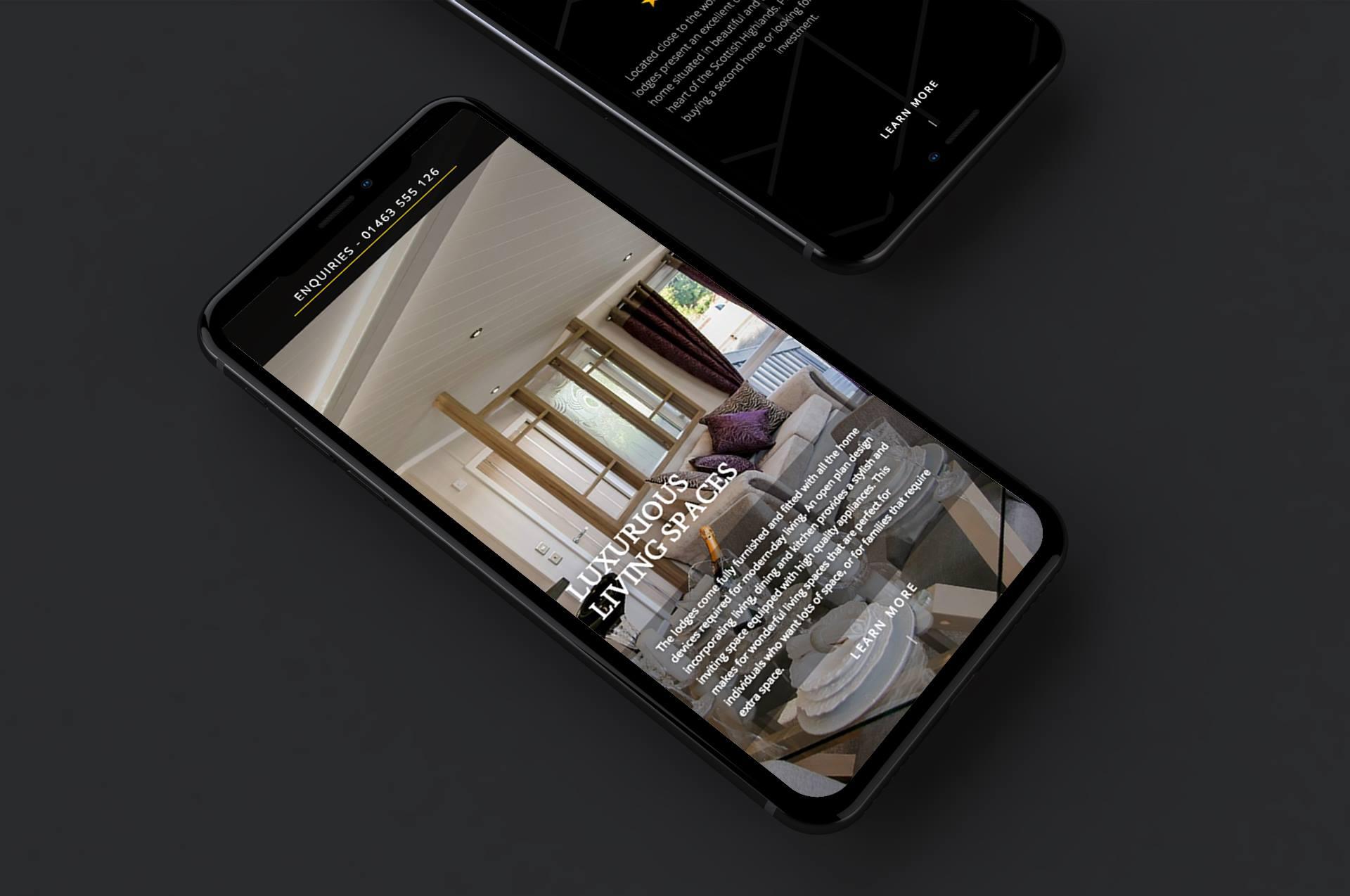 Mobile site design sanctuary loch ness