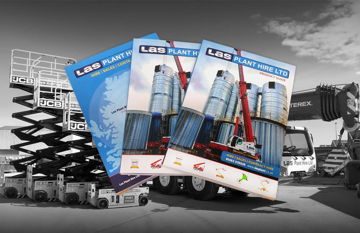 LAS plant hire design for print