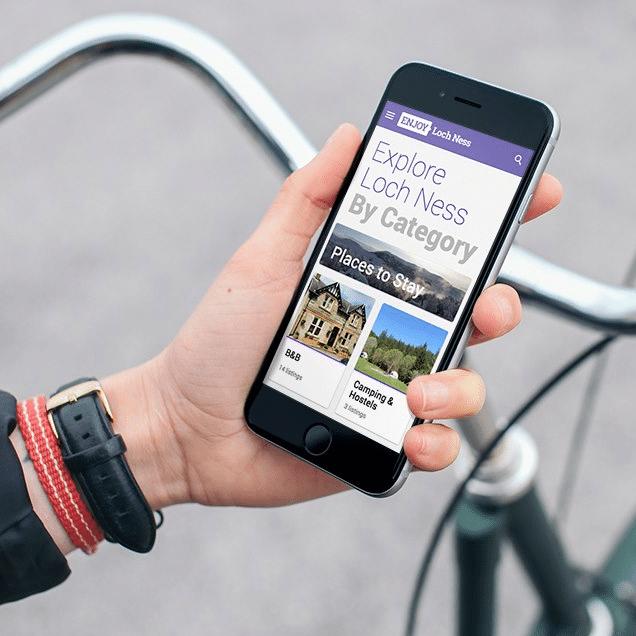 Explore loch ness mobile site design
