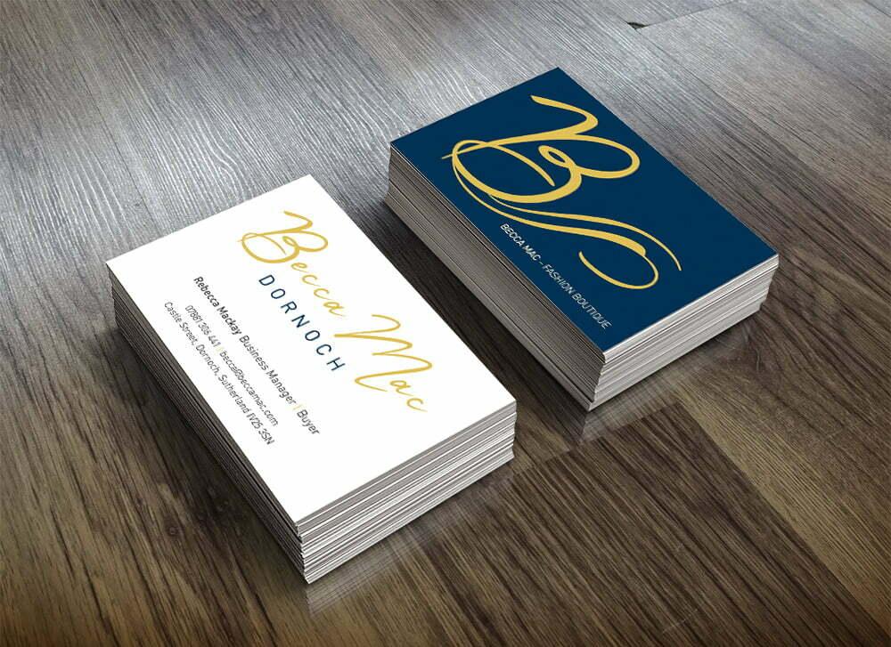 Becca Mac printed business cards