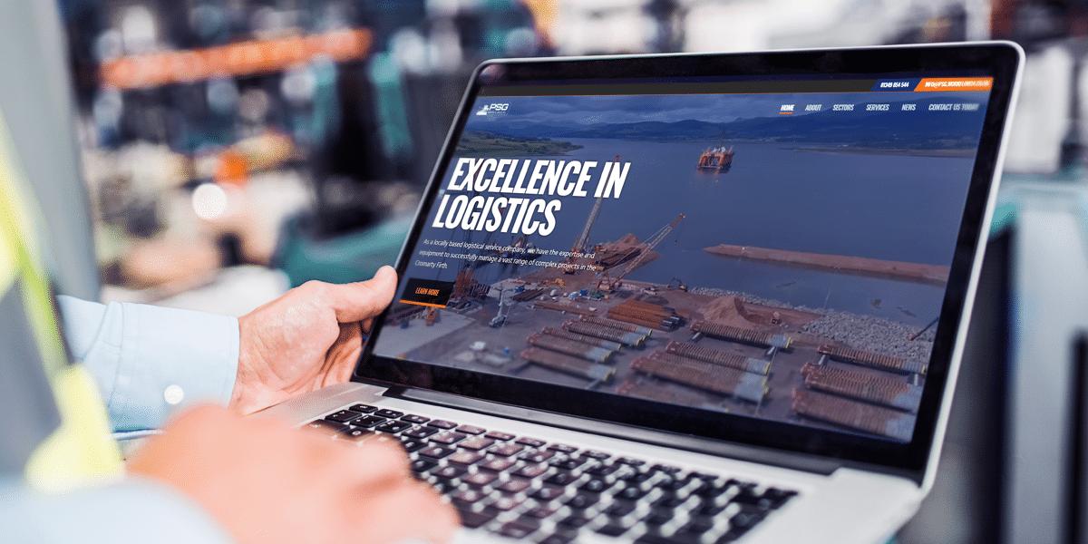 PSG Invergordon website design